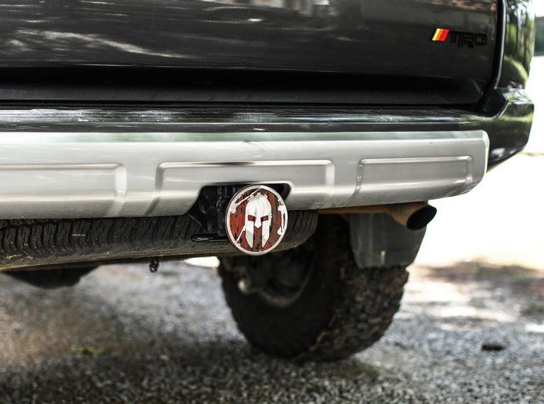 SPARTAN Helmet Trailer Hitch - Weathered Red