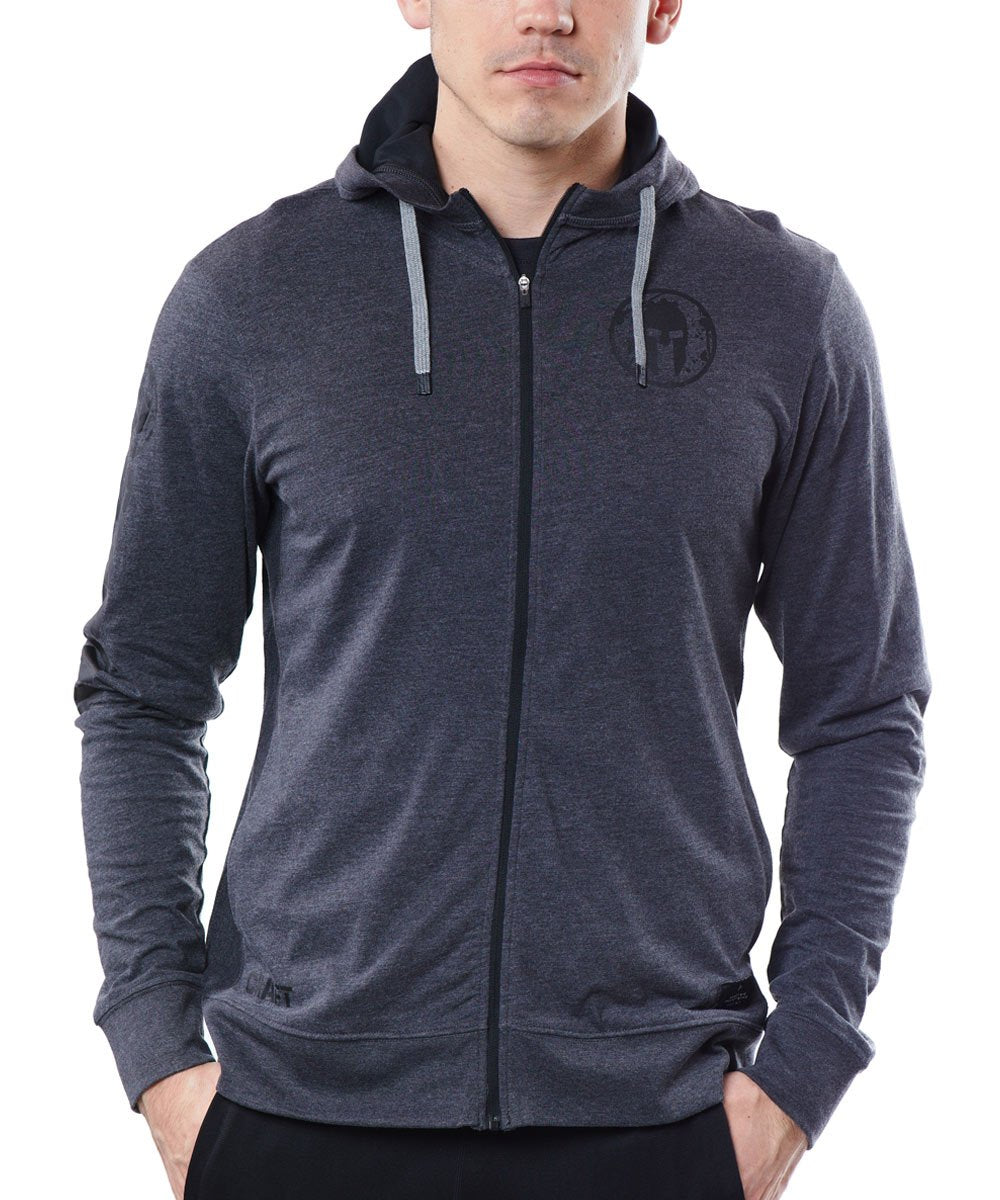 CRAFT SPARTAN By CRAFT Deft Jersey FZ Hood - Men's Dk Gray S