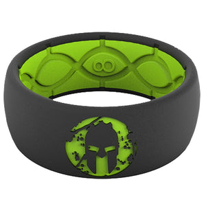 Groove Life Groove Life SPARTAN Silicone Ring - Men's Green/Black 9