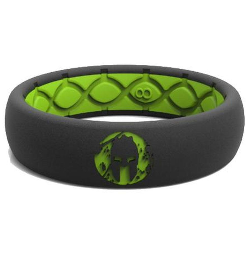 Groove Life Groove Life SPARTAN Silicone Ring - Women's Green/Black 5