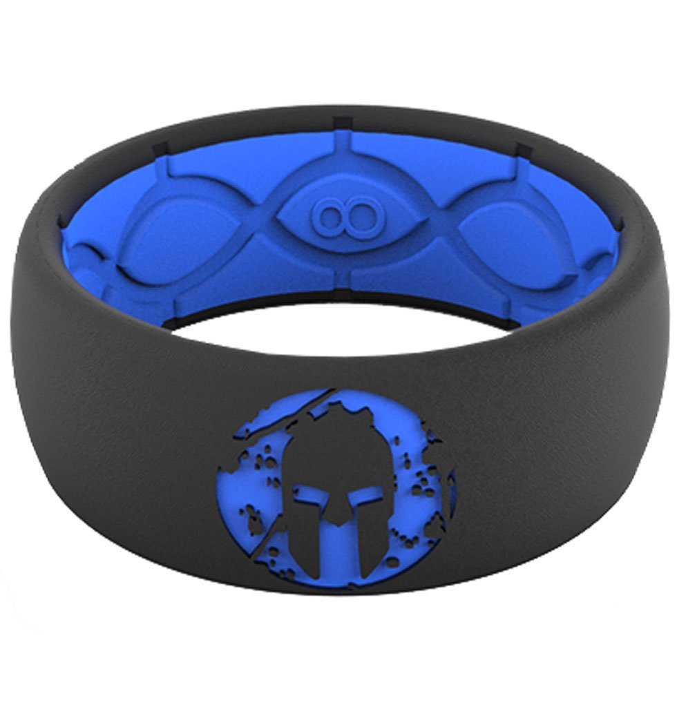 Groove Life Groove Life SPARTAN Silicone Ring - Men's Blue/Black 9