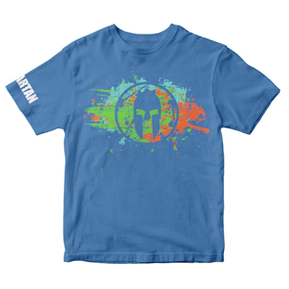 Spartan Race Shop SPARTAN Splatter Tee - Kids Blue S