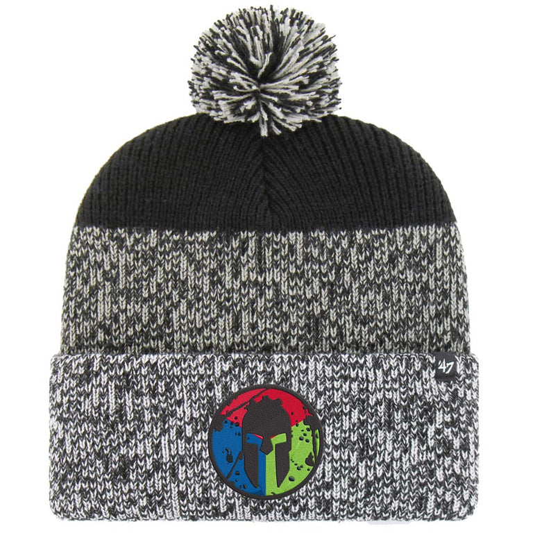 47 Brand SPARTAN '47 Trifecta Static Knit Hat - Unisex Black/Gray