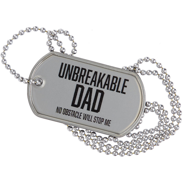 Unbreakable Dad Dog Tag SPARTAN Silver