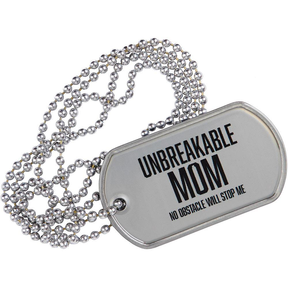SPARTAN Unbreakable Mom Tag