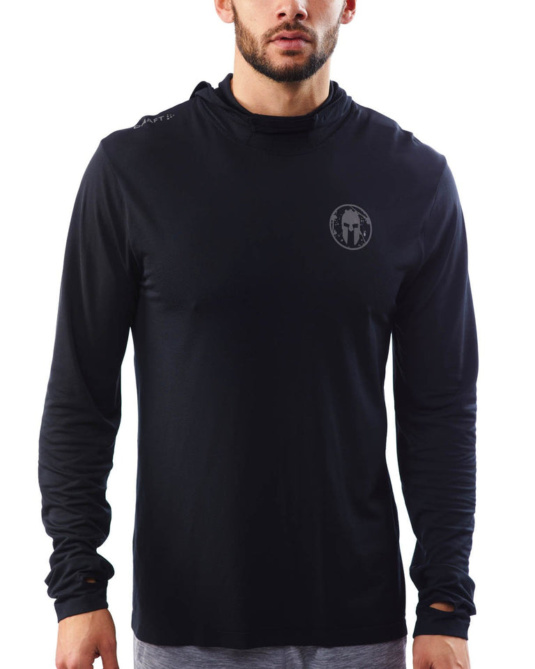 CRAFT SPARTAN By CRAFT Core Fuseknit LS Hood - Men's Black S
