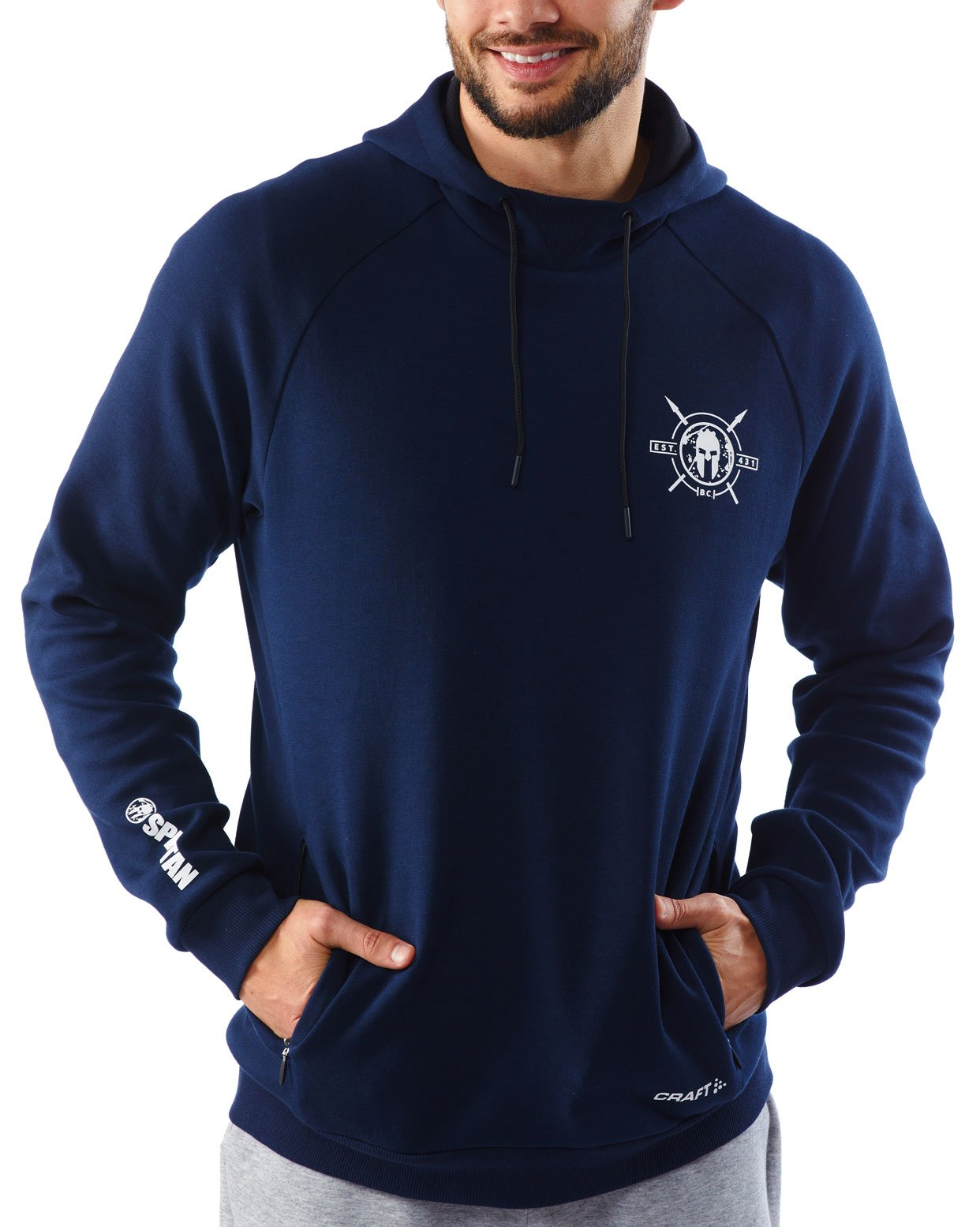 CRAFT SPARTAN By CRAFT District Pullover Hoodie - Men's Navy S