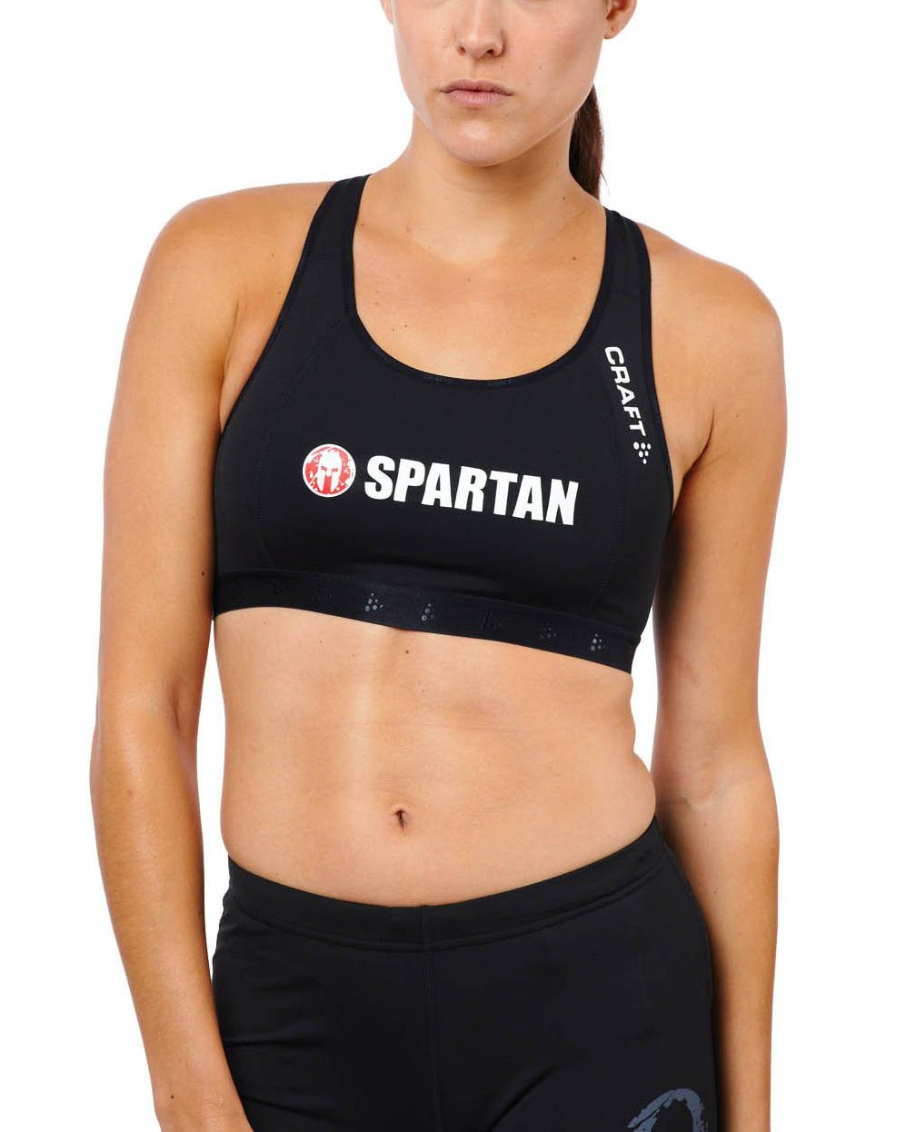 CRAFT SPARTAN By CRAFT Greatness Mid Impact Bra - Women's Black XS