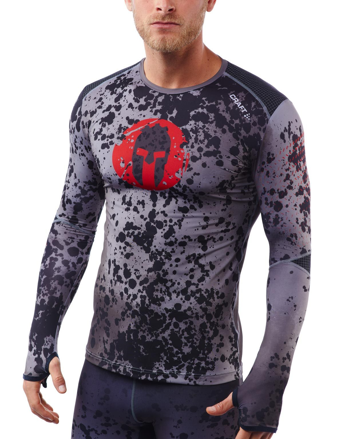 CRAFT SPARTAN By CRAFT Delta Compression LS Top - Men's Gray/Red S