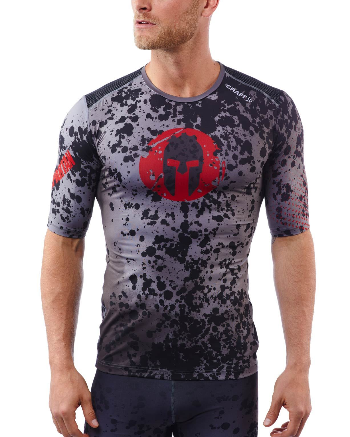 CRAFT SPARTAN By CRAFT Delta Compression SS Top - Men's Gray/Red S