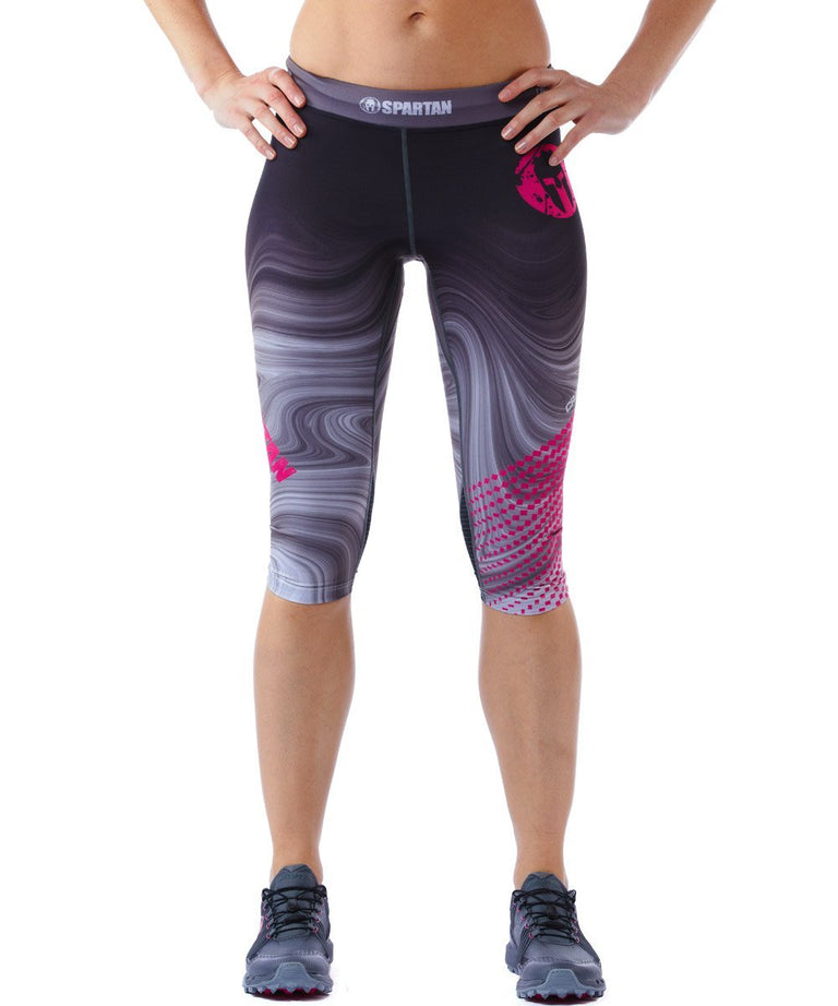 CRAFT SPARTAN By CRAFT Delta Capri - Women's Gray/Metro Pink XS