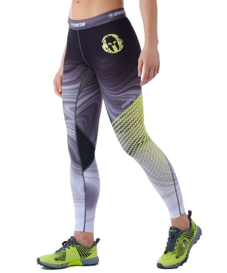 CRAFT SPARTAN By CRAFT Delta Tight - Women's Gray/Snap Yellow XS