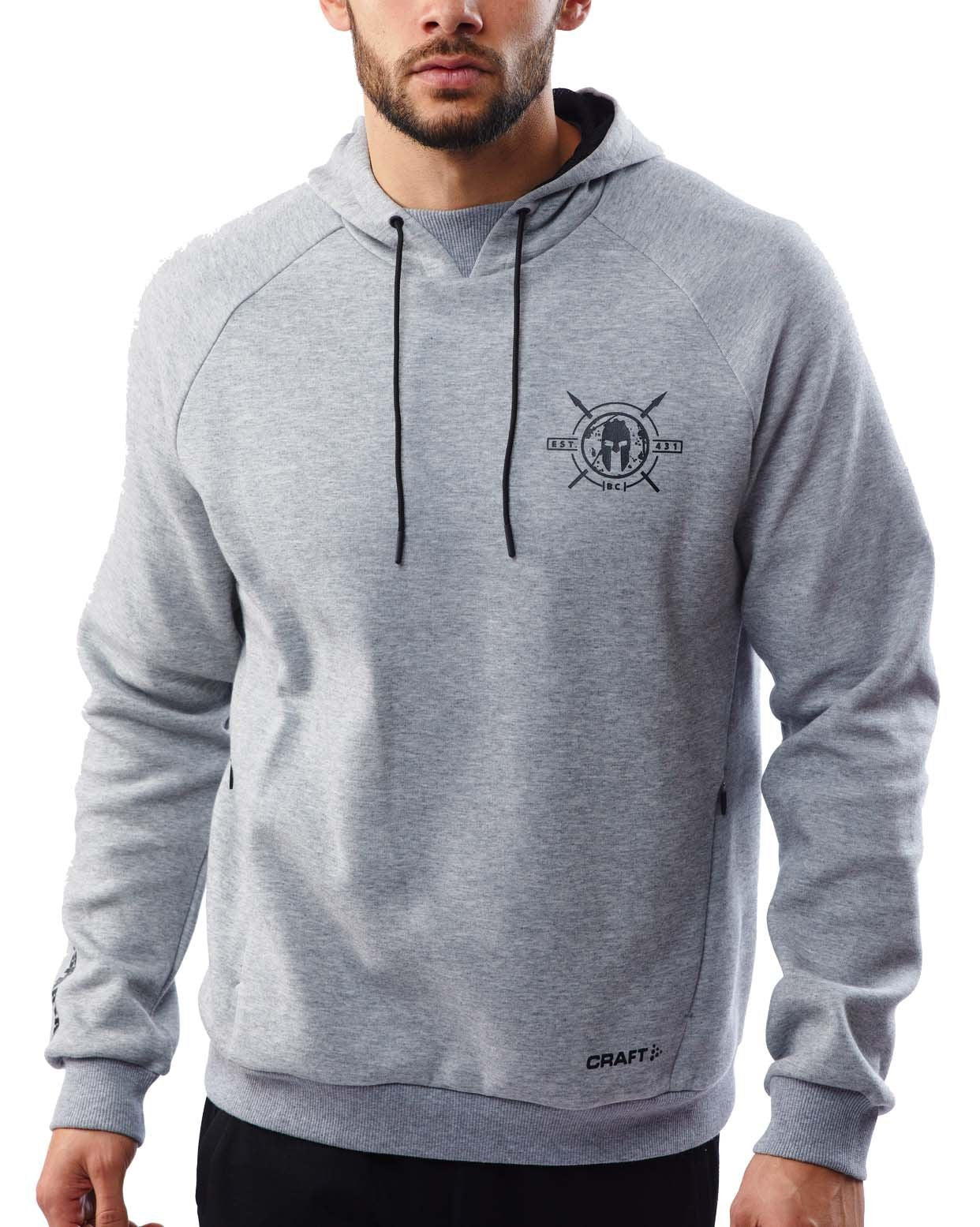 CRAFT SPARTAN By CRAFT District Pullover Hoodie - Men's Gray S
