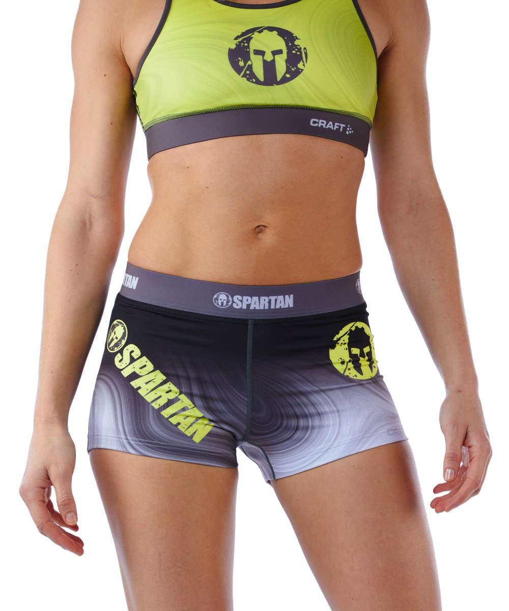 CRAFT SPARTAN By CRAFT Delta Hot Short - Women's Gray/Snap Yellow XS