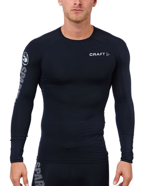 CRAFT SPARTAN By CRAFT Delta LS Compression Top - Men's Black S