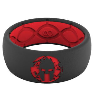 Groove Life Groove Life SPARTAN Silicone Ring - Men's Red/Black 9