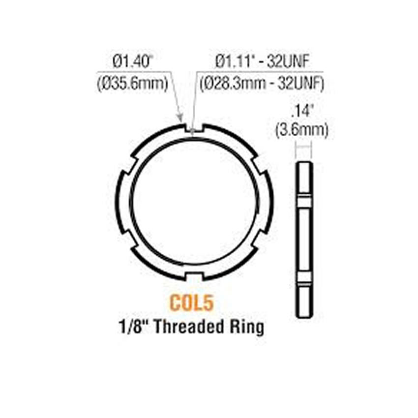 GMS COL 5<br>Threaded Mortise Cylinder Ring, Cash Box NutMortise CylinderGMS - Door Resources