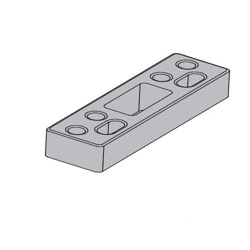 "LCN 4040-61 Blade Stop Spacer Aluminum for Parallel Arm Shoe with 1/2"" Blade Clearance on 4040 Door Closers"