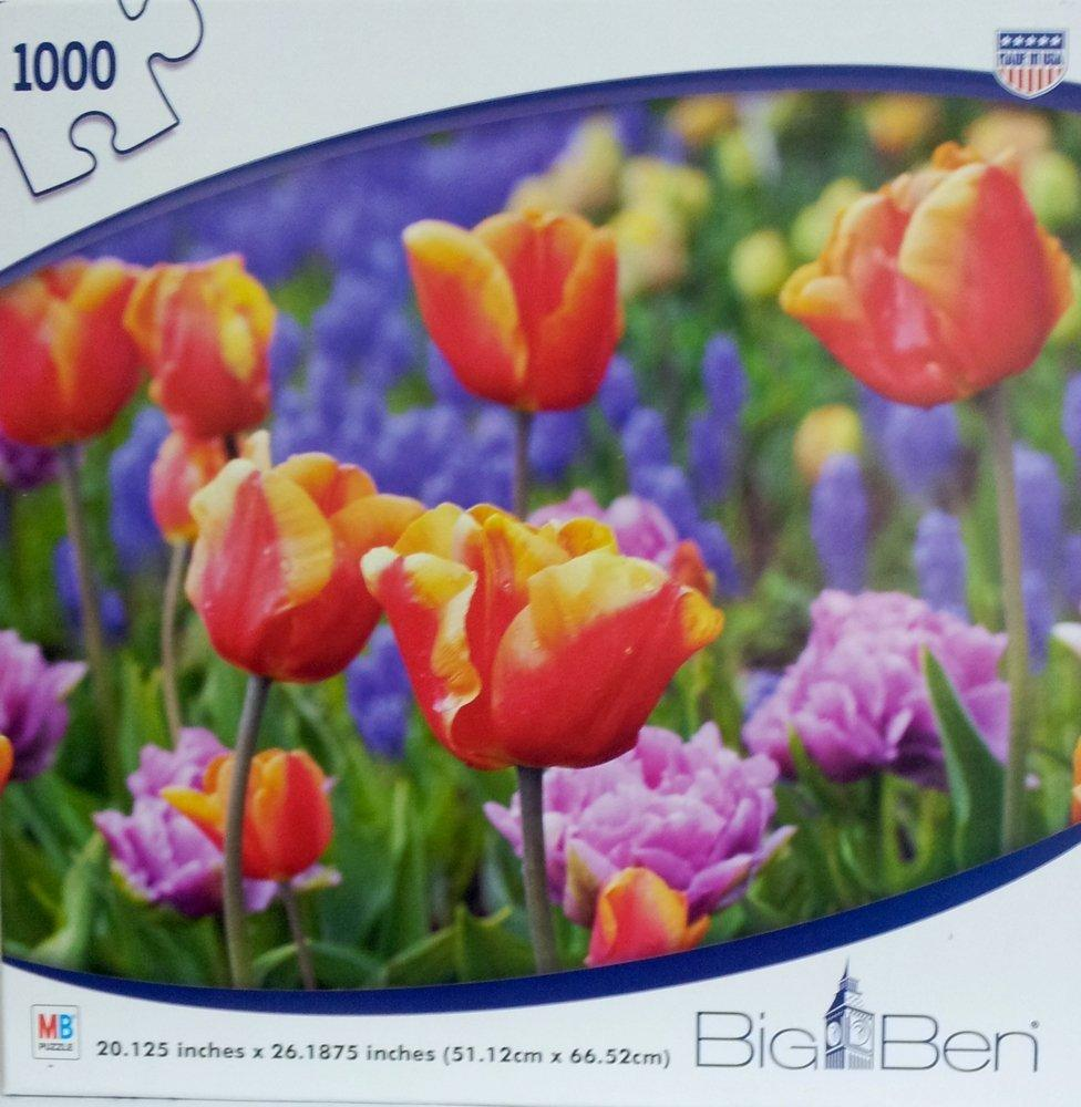 Big Ben Field of Tulips 1000 Piece Puzzle