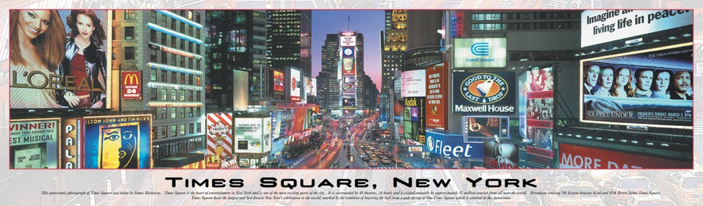 Times Square New York Panoramic 750 Piece Puzzle