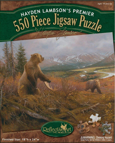 Grizzly Remains 550 Piece Puzzle