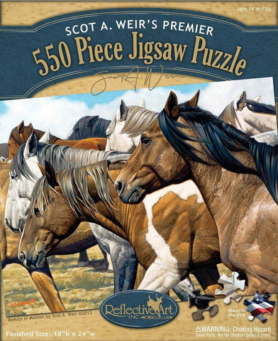 Beauty in Motion 550 Piece Puzzle