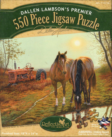 Old Farm Hands 550 Piece Puzzle