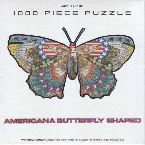 Americana Butterfly Shaped 1000 Piece Puzzle