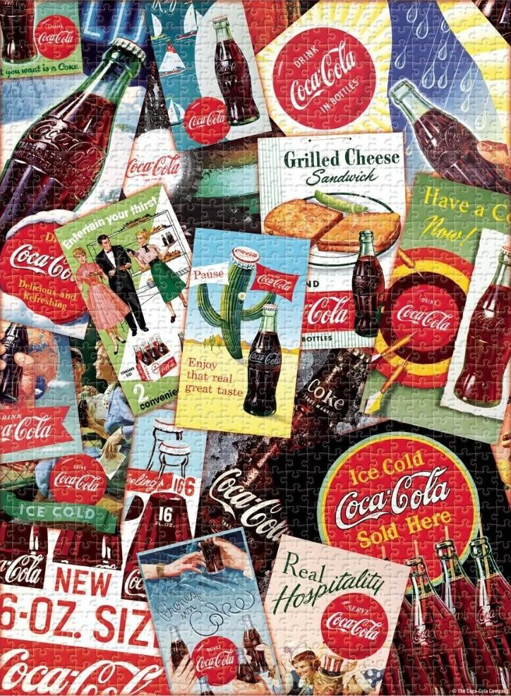Coca Cola Collage 1000 Piece Puzzle
