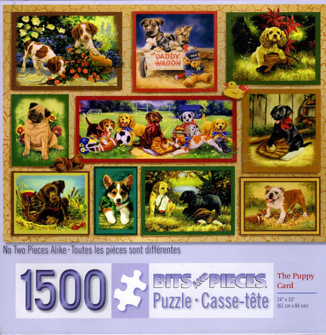 Puppy Card 1500 Piece Puzzle