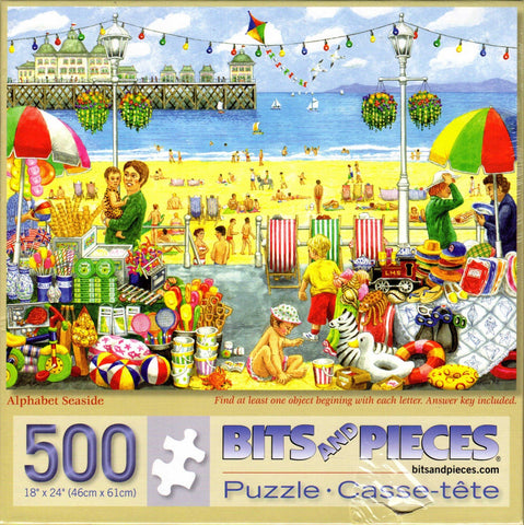Alphabet Seaside 500 Piece Puzzle