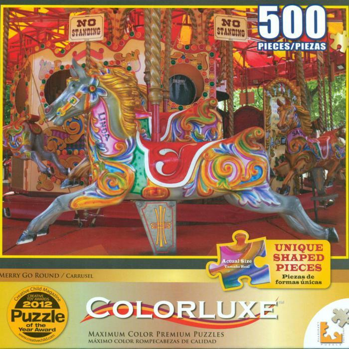 Colorluxe 500 Piece Puzzle - Merry Go Round
