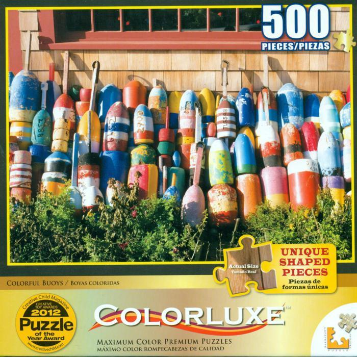 Colorluxe 500 Piece Puzzle - Colorful Buoys