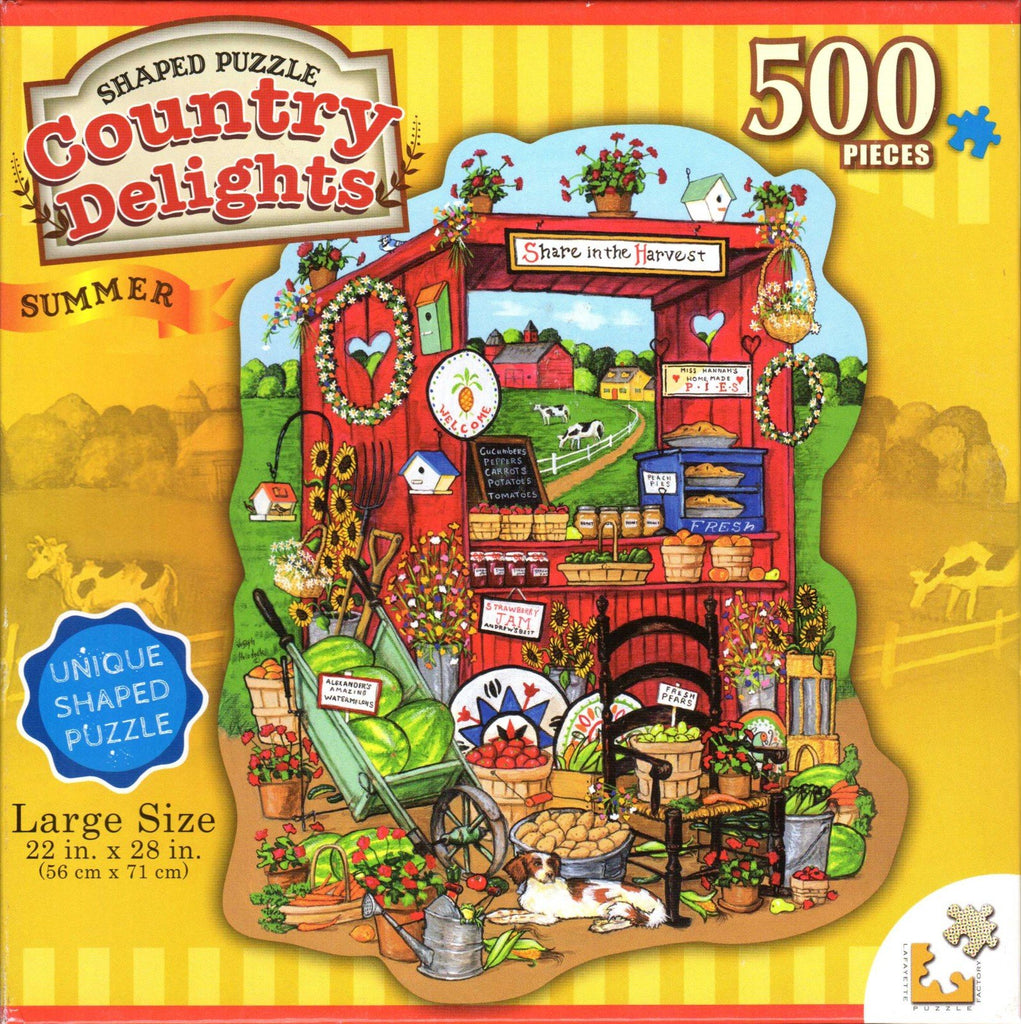 Country Delights: Summer 500 Piece Puzzle