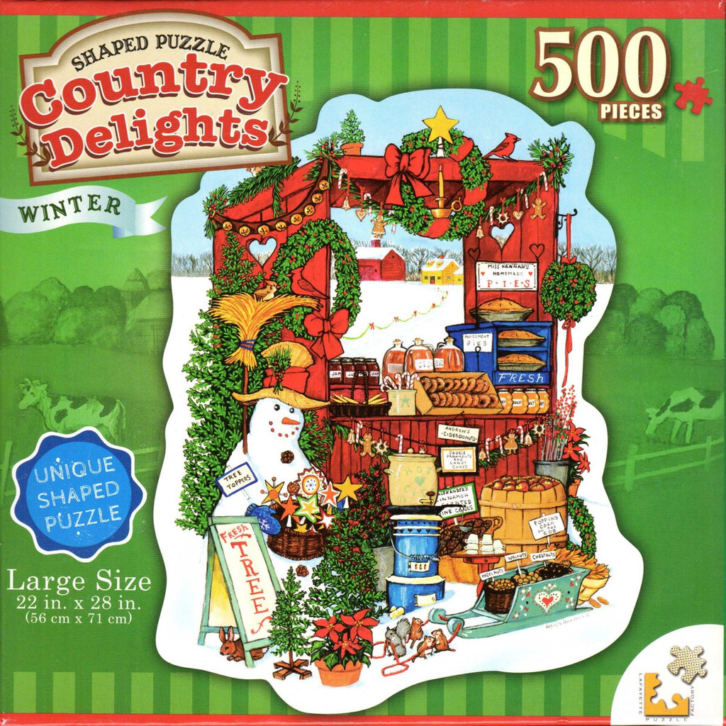 Country Delights: Winter 500 Piece Puzzle