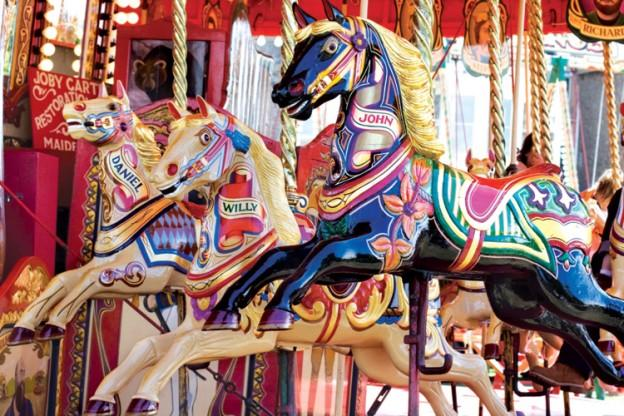 Colorluxe 1000 Piece Puzzle - Colorful Carousel Horses