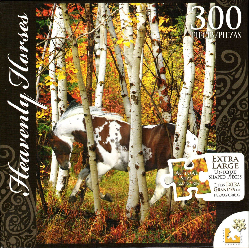 Heavenly Horses 300 Piece Puzzle - Hideaway Horse