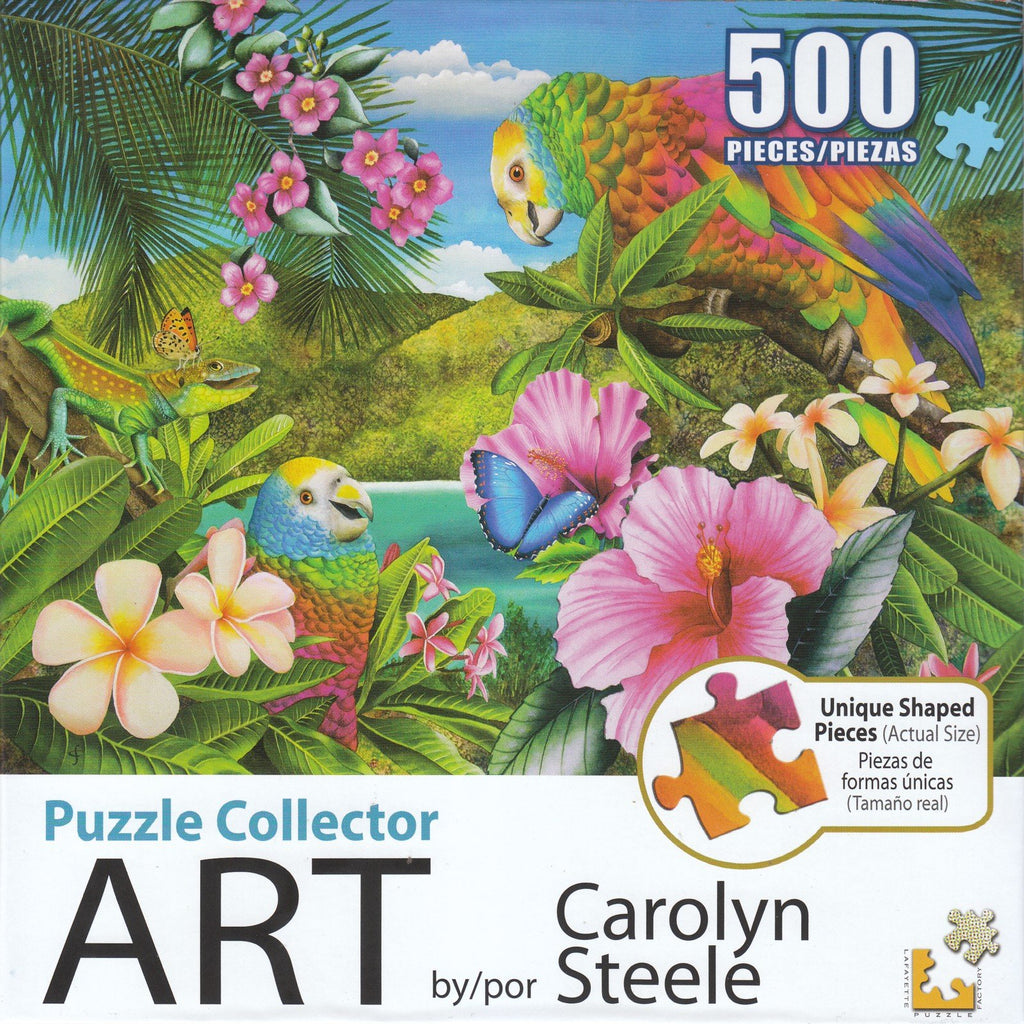 Puzzle Collector Art 500 Piece Puzzle - Parrot Island