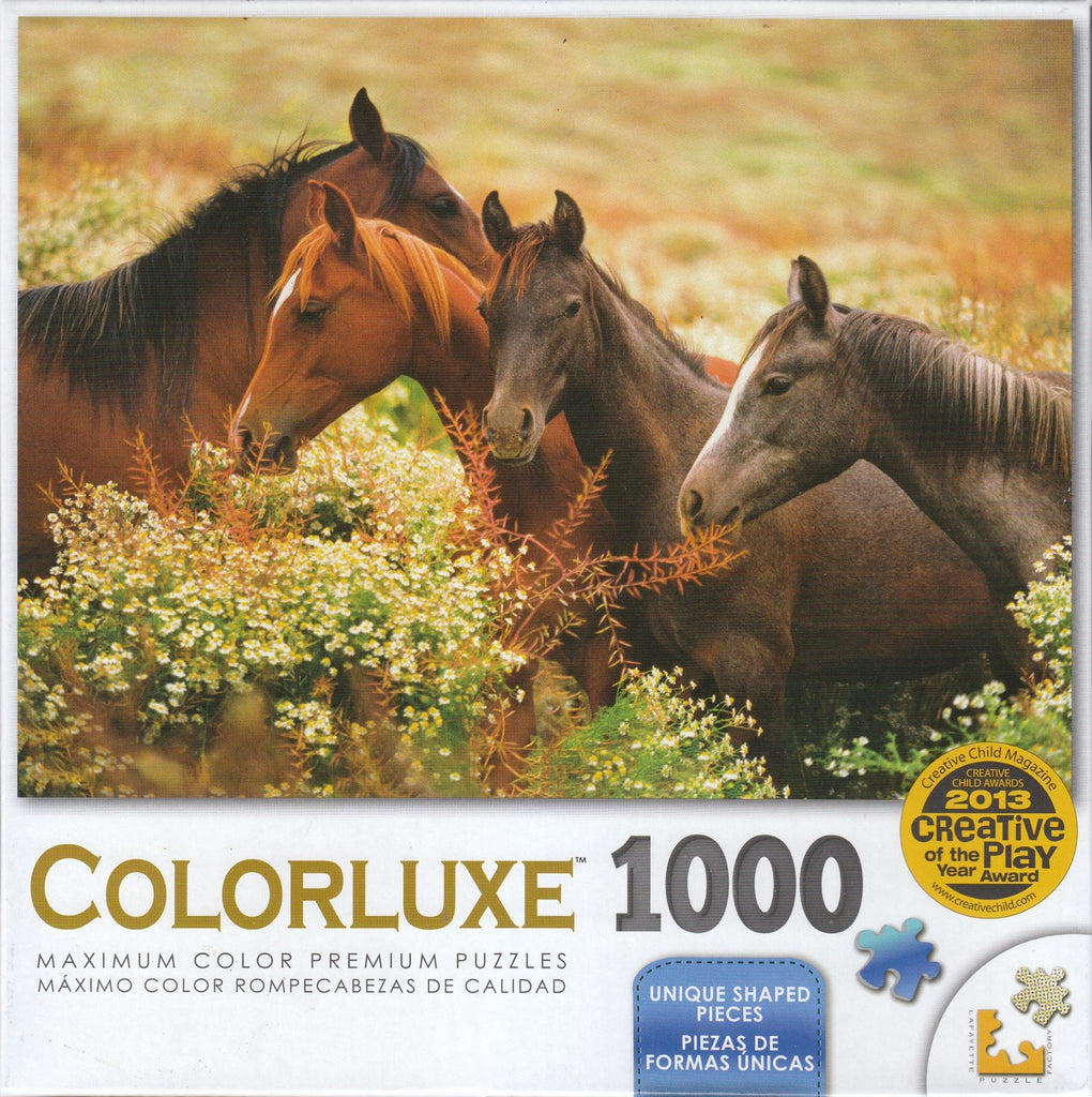 Colorluxe 1000 Piece Puzzle - Arabian Colts In The Meadow