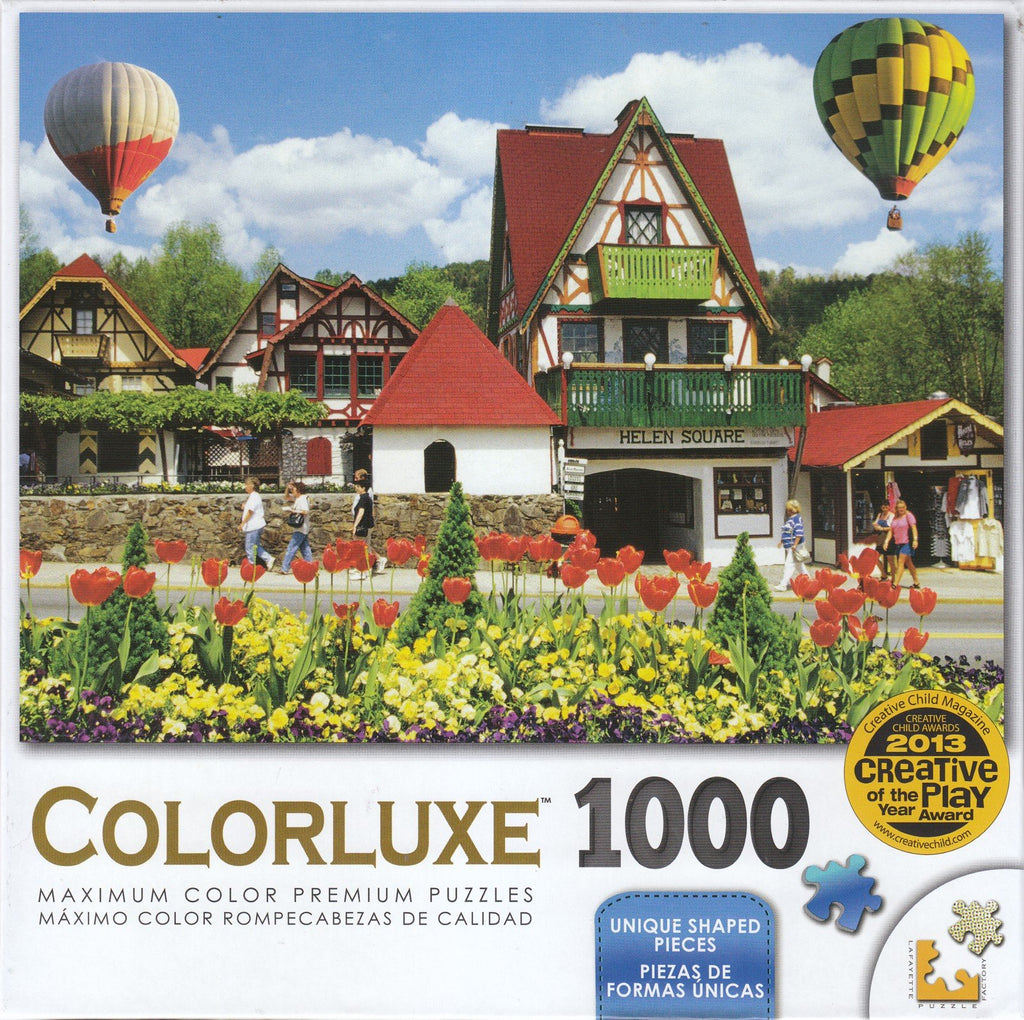 Colorluxe 1000 Piece Puzzle - Hot Air Balloons Over Helena, Georgia