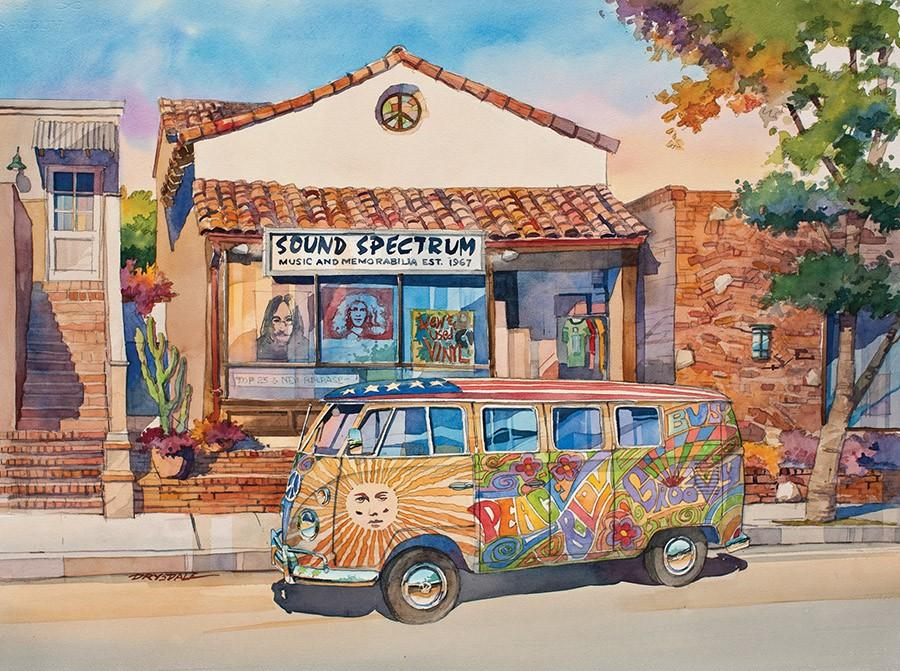 California Dreams-Love Bus 1000 Piece Puzzle