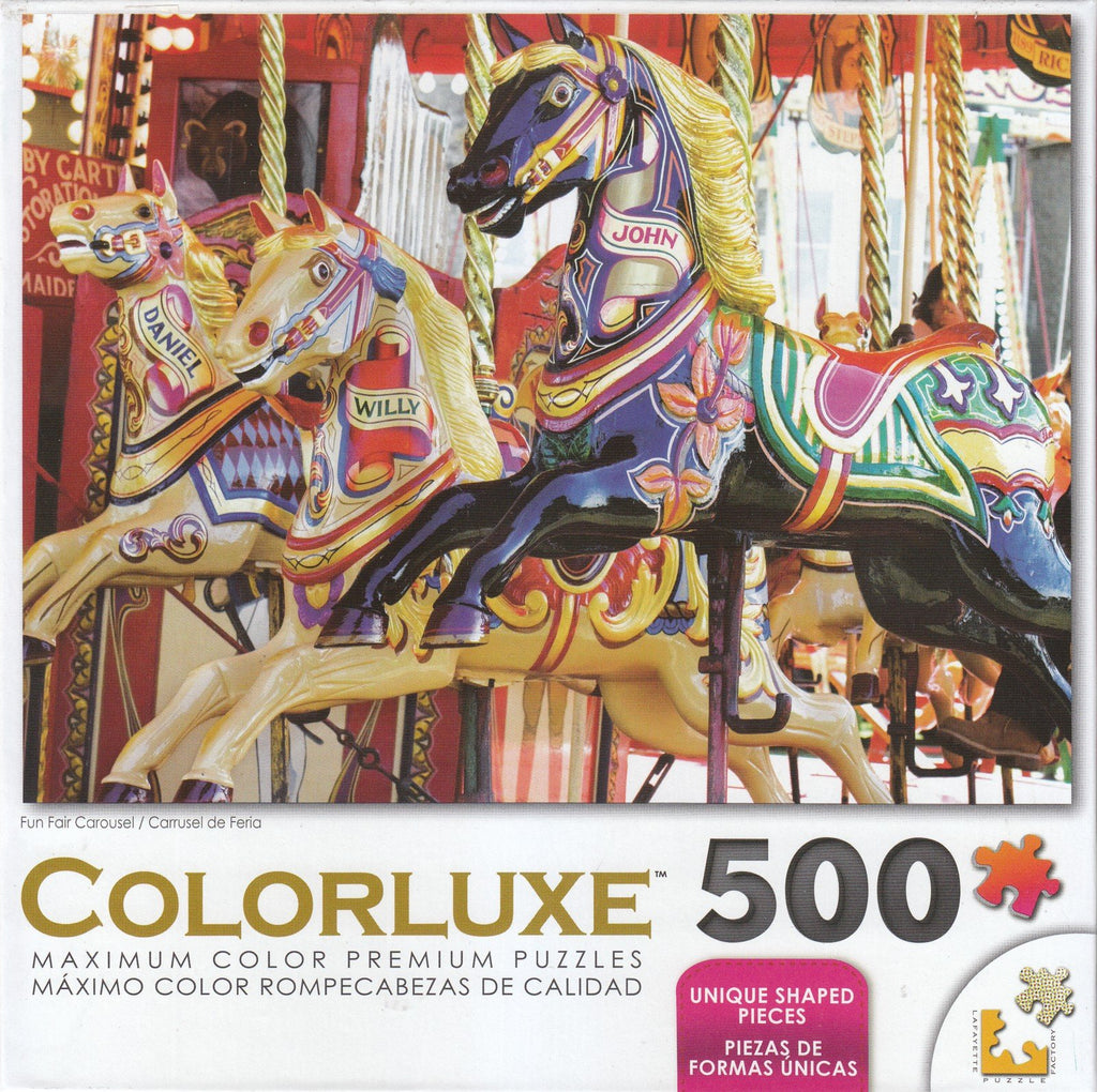 Colorluxe 500 Piece Puzzle - Fun Fair Carousel