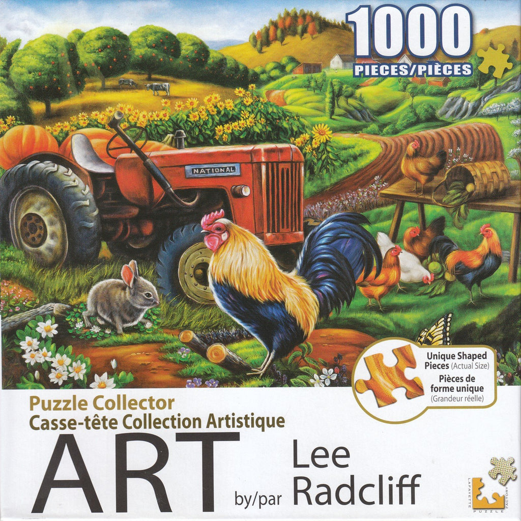 Puzzle Collector Art 1000 Piece Puzzle - On the Farm