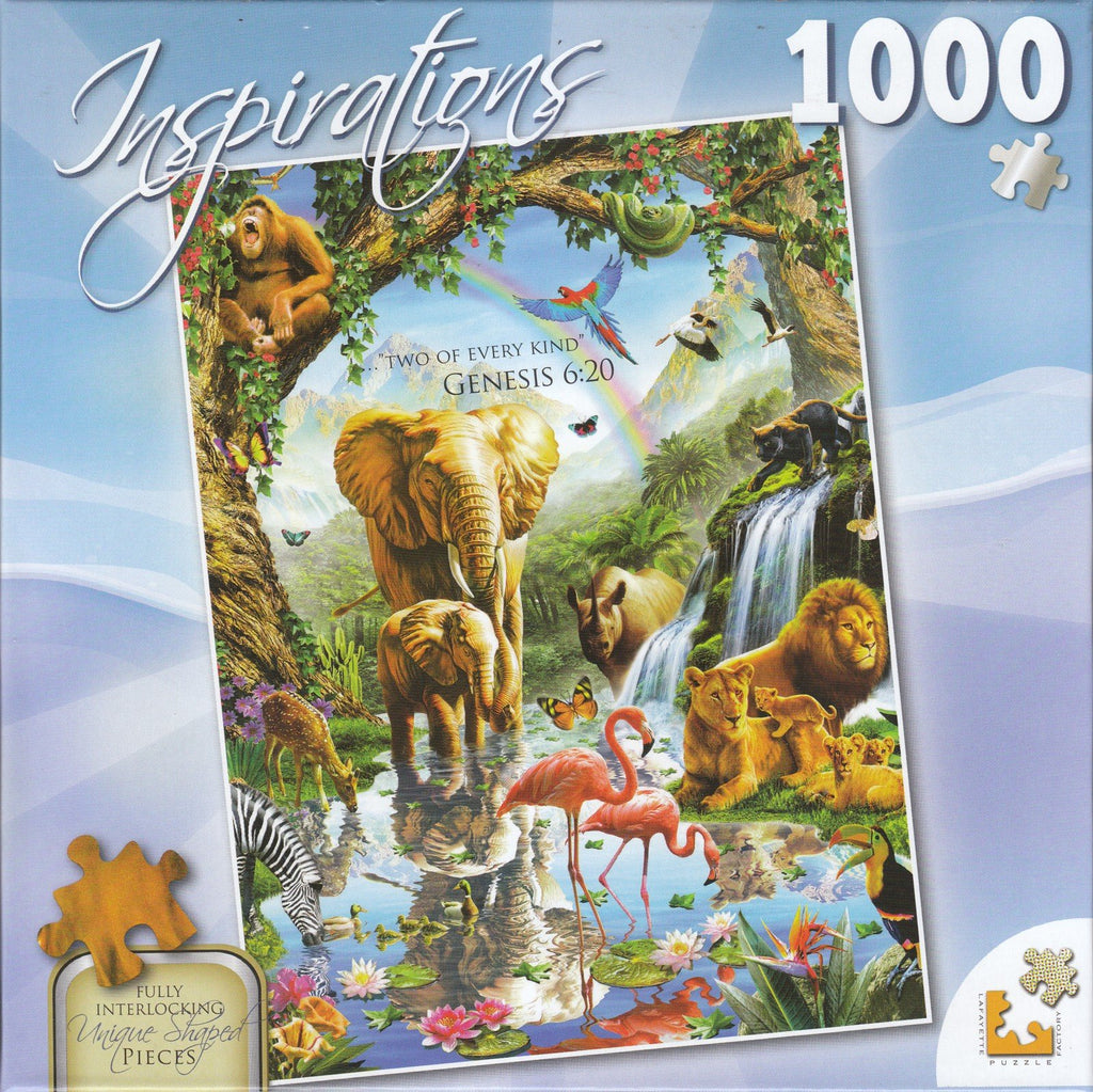 Inspirations 1000 Piece Puzzle - Jungle Lake