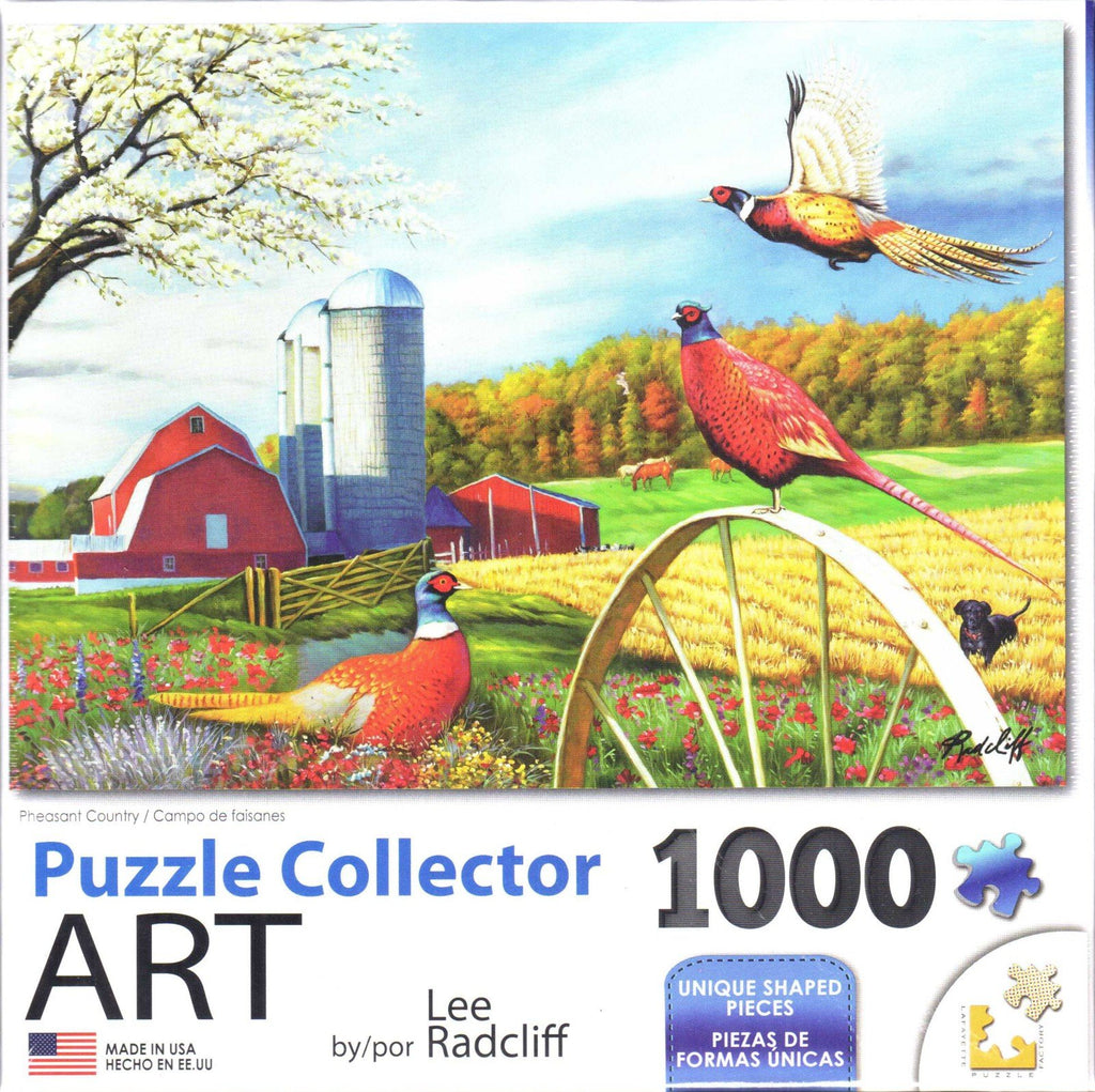 Puzzle Collector Art 1000 Piece Puzzle - Pheasant Country