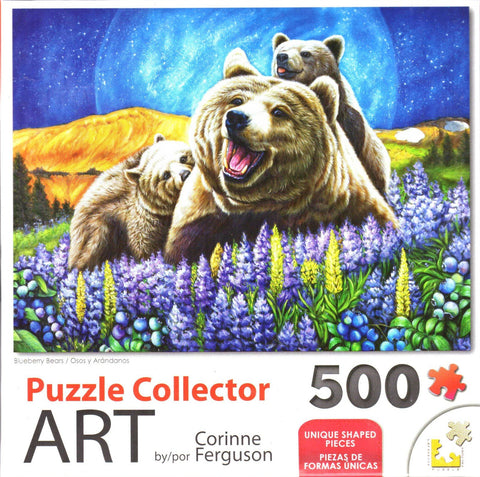 Puzzle Collector Art 500 Piece Puzzle - Blueberry Bears