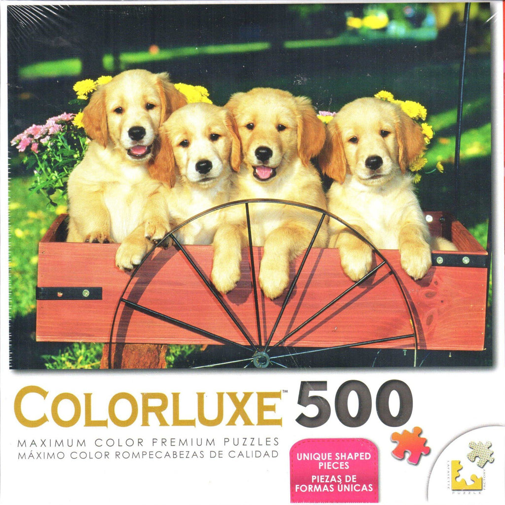 Colorluxe 500 Piece Puzzle - Labrador Puppies