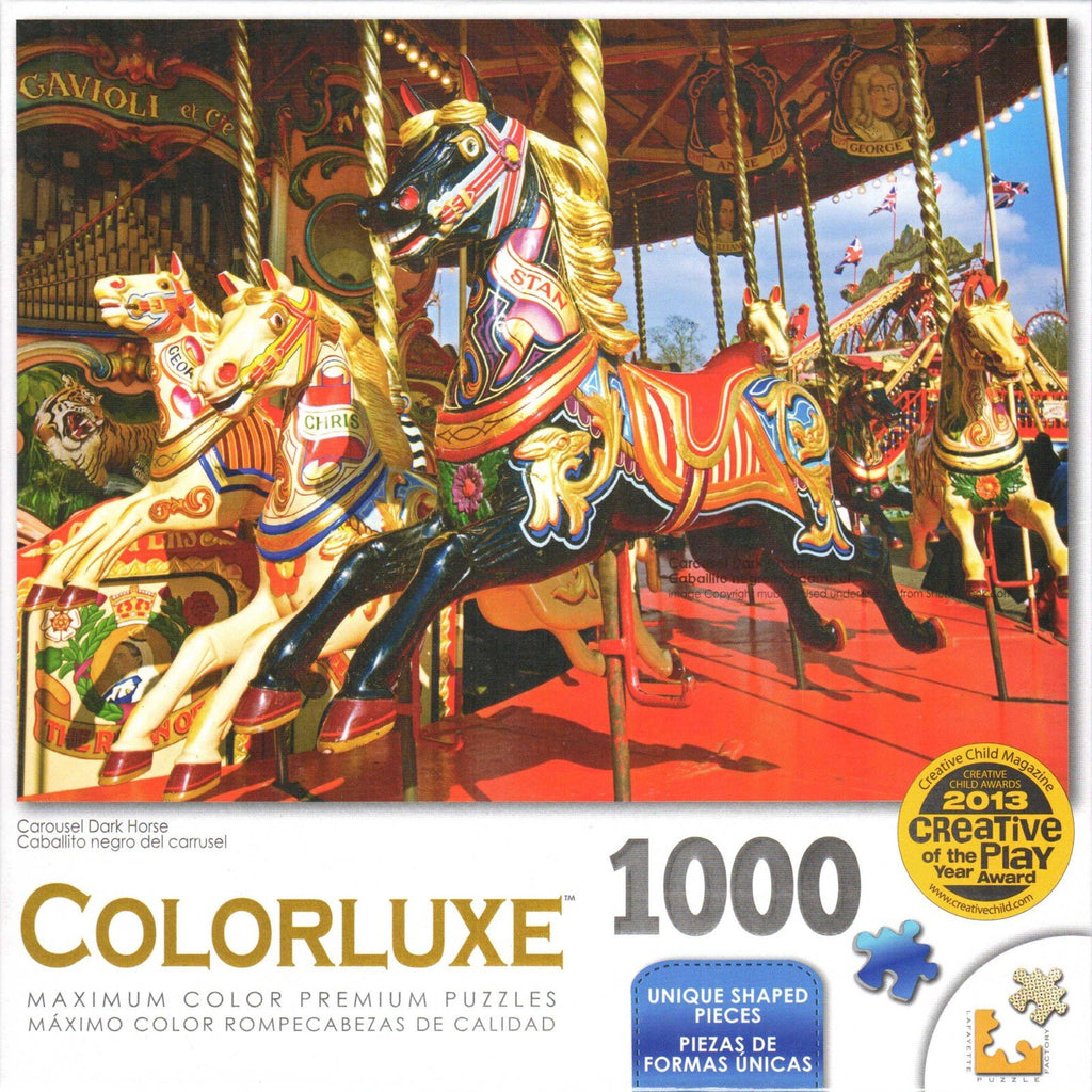 Colorluxe 1000 Piece Puzzle - Carousel Dark Horse