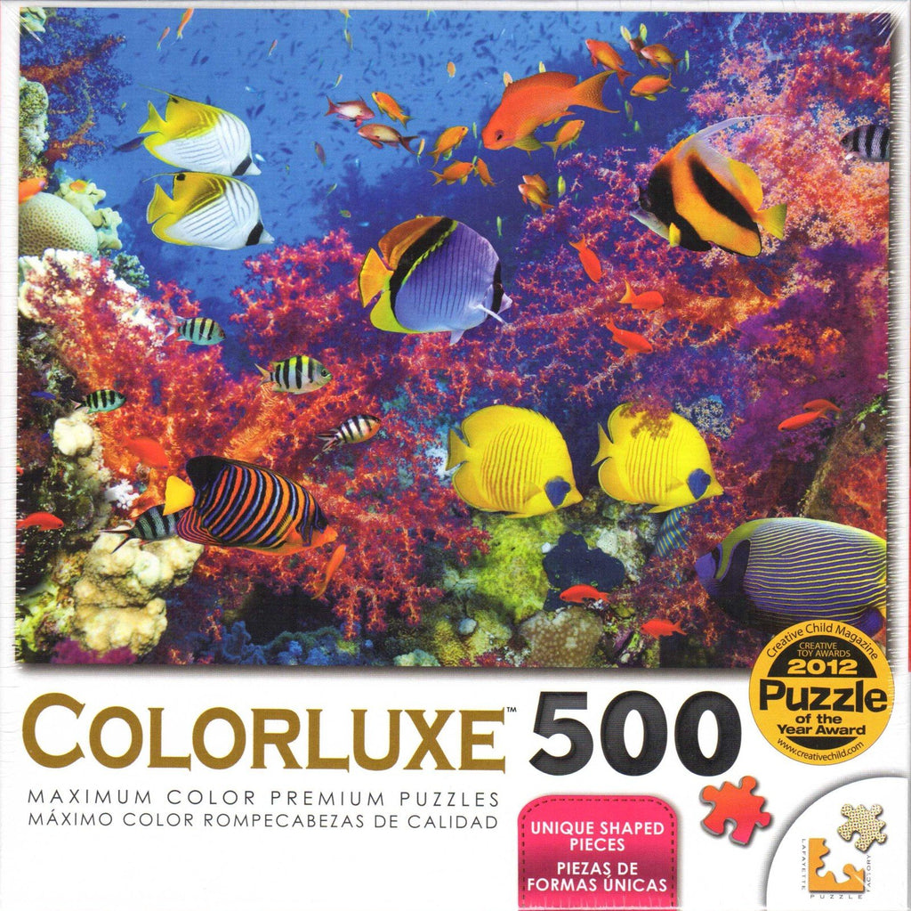 Colorluxe 500 Piece Puzzle - Coral Fish Paradise