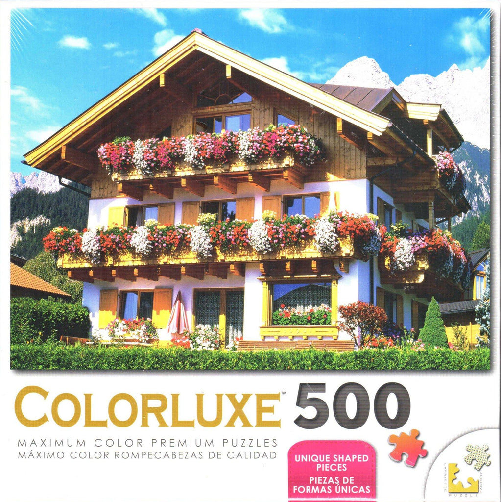 Colorluxe 500 Piece Puzzle - Flower Farmhouse Austria